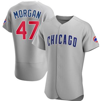 Men's Adam Morgan Chicago Gray Authentic Road Baseball Jersey (Unsigned No Brands/Logos)