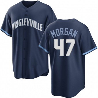 Men's Adam Morgan Chicago Navy Replica 2021 City Connect Baseball Jersey (Unsigned No Brands/Logos)