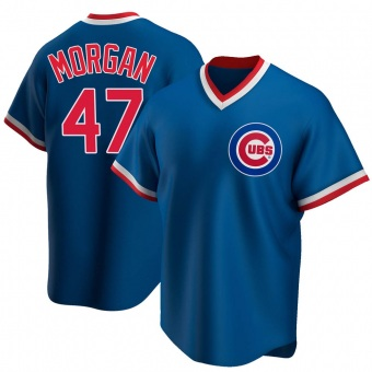 Men's Adam Morgan Chicago Royal Replica Road Cooperstown Collection Baseball Jersey (Unsigned No Brands/Logos)