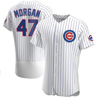 Men's Adam Morgan Chicago White Authentic Home Baseball Jersey (Unsigned No Brands/Logos)