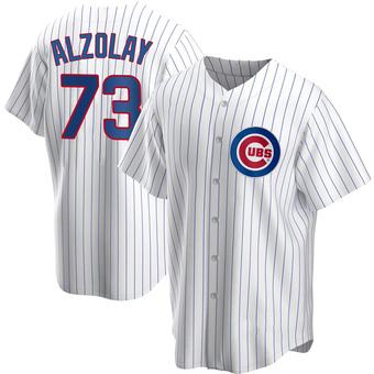 Men's Adbert Alzolay Chicago White Replica Home Baseball Jersey (Unsigned No Brands/Logos)