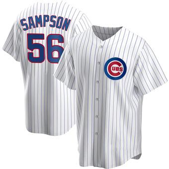 Men's Adrian Sampson Chicago White Replica Home Baseball Jersey (Unsigned No Brands/Logos)