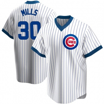 Men's Alec Mills Chicago White Replica Home Cooperstown Collection Baseball Jersey (Unsigned No Brands/Logos)