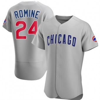 Men's Andrew Romine Chicago Gray Authentic Road Baseball Jersey (Unsigned No Brands/Logos)