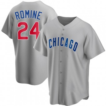 Men's Andrew Romine Chicago Gray Replica Road Baseball Jersey (Unsigned No Brands/Logos)