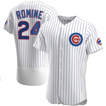 Men's Andrew Romine Chicago White Authentic Home Baseball Jersey (Unsigned No Brands/Logos)