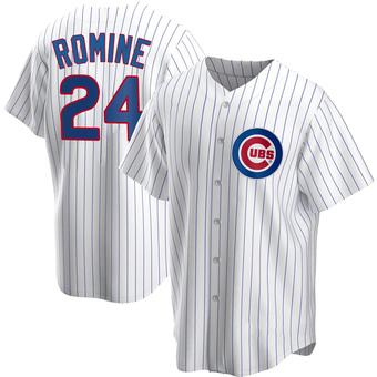 Men's Andrew Romine Chicago White Replica Home Baseball Jersey (Unsigned No Brands/Logos)