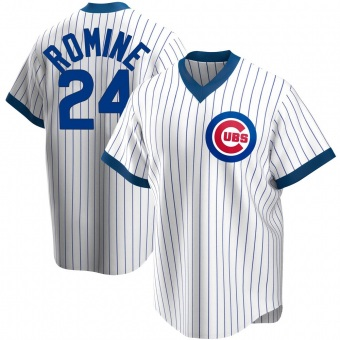 Men's Andrew Romine Chicago White Replica Home Cooperstown Collection Baseball Jersey (Unsigned No Brands/Logos)
