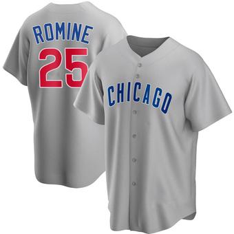 Men's Austin Romine Chicago Gray Replica Road Baseball Jersey (Unsigned No Brands/Logos)