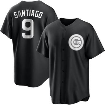Men's Benito Santiago Chicago Black/White Replica Baseball Jersey (Unsigned No Brands/Logos)