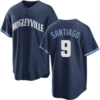 Men's Benito Santiago Chicago Navy Replica 2021 City Connect Baseball Jersey (Unsigned No Brands/Logos)