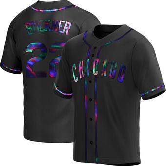 Men's Bill Buckner Chicago Black Holographic Replica Alternate Baseball Jersey (Unsigned No Brands/Logos)