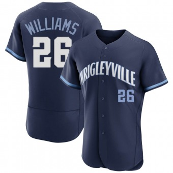 Men's Billy Williams Chicago Navy Authentic 2021 City Connect Baseball Jersey (Unsigned No Brands/Logos)