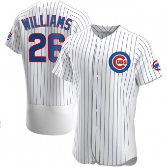 Men's Billy Williams Chicago White Authentic Home Baseball Jersey (Unsigned No Brands/Logos)