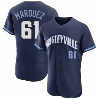 Men's Brailyn Marquez Chicago Navy Authentic 2021 City Connect Baseball Jersey (Unsigned No Brands/Logos)