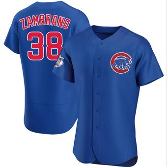 Men's Carlos Zambrano Chicago Royal Authentic Alternate Baseball Jersey (Unsigned No Brands/Logos)