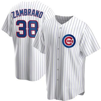 Men's Carlos Zambrano Chicago White Replica Home Baseball Jersey (Unsigned No Brands/Logos)
