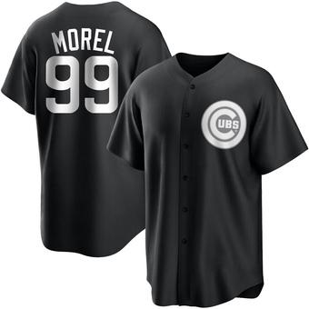 Men's Christopher Morel Chicago Black/White Replica Baseball Jersey (Unsigned No Brands/Logos)