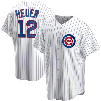 Men's Codi Heuer Chicago White Replica Home Baseball Jersey (Unsigned No Brands/Logos)