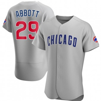 Men's Cory Abbott Chicago Gray Authentic Road Baseball Jersey (Unsigned No Brands/Logos)