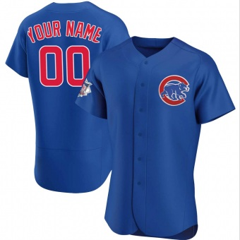 Men's Custom Chicago Royal Authentic Alternate Baseball Jersey (Unsigned No Brands/Logos)