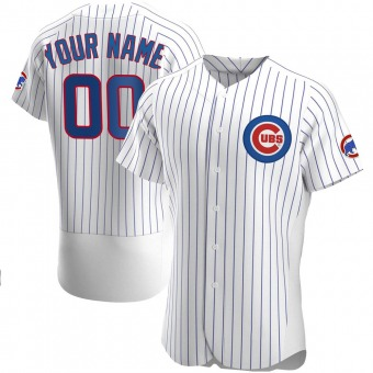 Men's Custom Chicago White Authentic Home Baseball Jersey (Unsigned No Brands/Logos)