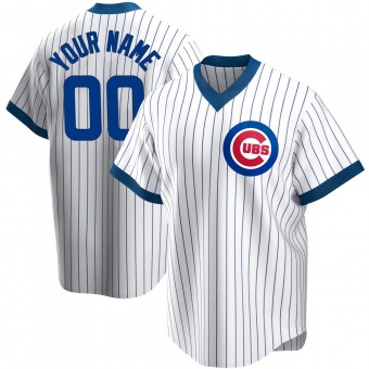 Men's Custom Chicago White Replica Home Cooperstown Collection Baseball Jersey (Unsigned No Brands/Logos)