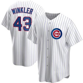 Men's Dan Winkler Chicago White Replica Home Baseball Jersey (Unsigned No Brands/Logos)
