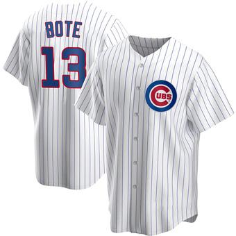 Men's David Bote Chicago White Replica Home Baseball Jersey (Unsigned No Brands/Logos)