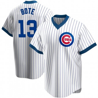 Men's David Bote Chicago White Replica Home Cooperstown Collection Baseball Jersey (Unsigned No Brands/Logos)