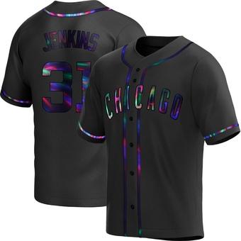 Men's Fergie Jenkins Chicago Black Holographic Alternate Baseball Jersey (Unsigned No Brands/Logos)