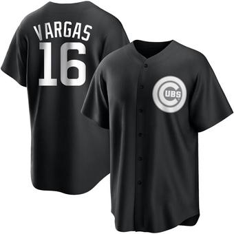 Men's Ildemaro Vargas Chicago Black/White Replica Baseball Jersey (Unsigned No Brands/Logos)