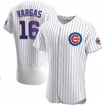 Men's Ildemaro Vargas Chicago White Authentic Home Baseball Jersey (Unsigned No Brands/Logos)