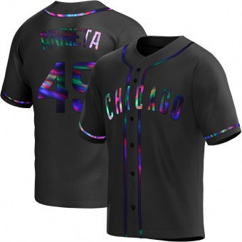 Men's Jake Arrieta Chicago Black Holographic Replica Alternate Baseball Jersey (Unsigned No Brands/Logos)