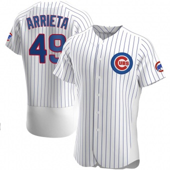 Men's Jake Arrieta Chicago White Authentic Home Baseball Jersey (Unsigned No Brands/Logos)