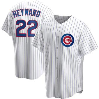 Men's Jason Heyward Chicago White Replica Home Baseball Jersey (Unsigned No Brands/Logos)