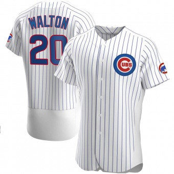 Men's Jerome Walton Chicago White Authentic Home Baseball Jersey (Unsigned No Brands/Logos)