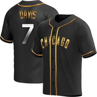 Men's Jody Davis Chicago Black Golden Replica Alternate Baseball Jersey (Unsigned No Brands/Logos)