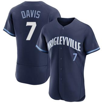 Men's Jody Davis Chicago Navy Authentic 2021 City Connect Baseball Jersey (Unsigned No Brands/Logos)