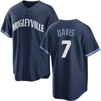 Men's Jody Davis Chicago Navy Replica 2021 City Connect Baseball Jersey (Unsigned No Brands/Logos)