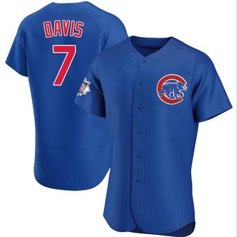 Men's Jody Davis Chicago Royal Authentic Alternate Baseball Jersey (Unsigned No Brands/Logos)