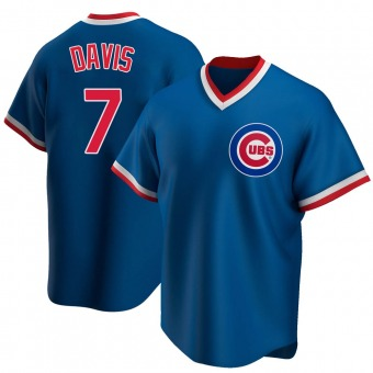 Men's Jody Davis Chicago Royal Replica Road Cooperstown Collection Baseball Jersey (Unsigned No Brands/Logos)