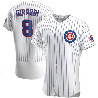 Men's Joe Girardi Chicago White Authentic Home Baseball Jersey (Unsigned No Brands/Logos)