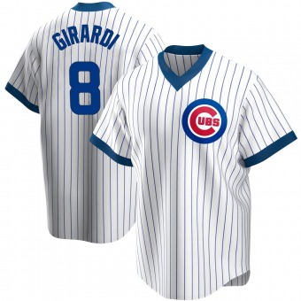 Men's Joe Girardi Chicago White Replica Home Cooperstown Collection Baseball Jersey (Unsigned No Brands/Logos)