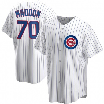 Men's Joe Maddon Chicago White Replica Home Baseball Jersey (Unsigned No Brands/Logos)