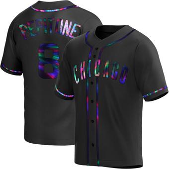 Men's Joe Pepitone Chicago Black Holographic Replica Alternate Baseball Jersey (Unsigned No Brands/Logos)