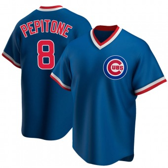 Men's Joe Pepitone Chicago Royal Replica Road Cooperstown Collection Baseball Jersey (Unsigned No Brands/Logos)