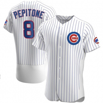 Men's Joe Pepitone Chicago White Authentic Home Baseball Jersey (Unsigned No Brands/Logos)