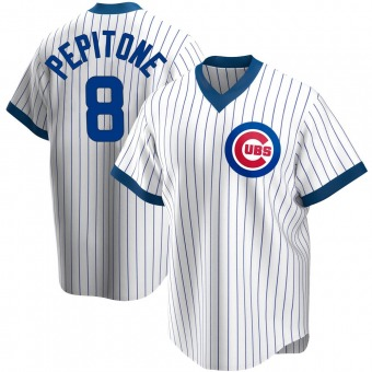 Men's Joe Pepitone Chicago White Replica Home Cooperstown Collection Baseball Jersey (Unsigned No Brands/Logos)