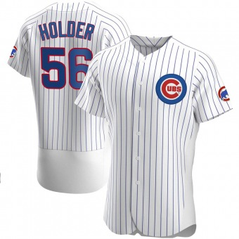 Men's Jonathan Holder Chicago White Authentic Home Baseball Jersey (Unsigned No Brands/Logos)